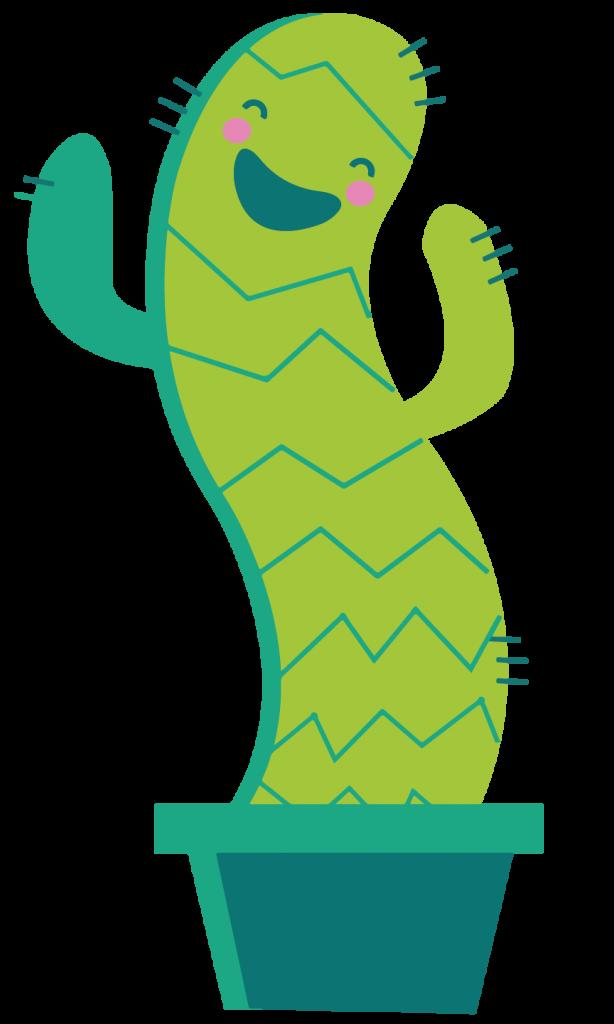 Joyful Cactus Illustration